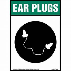 Ear Plugs Sign with Icon