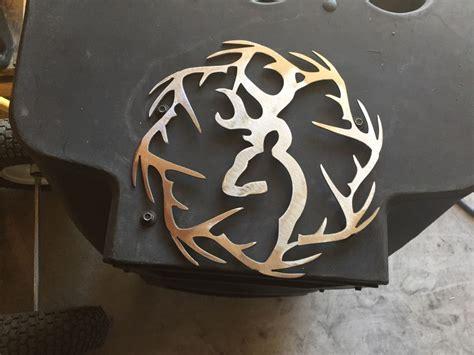 ebay wall decor metal plasma cut deer with antler ring cut out metal wall