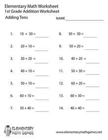 printable worksheet for grade 1 free printable adding tens worksheet for grade