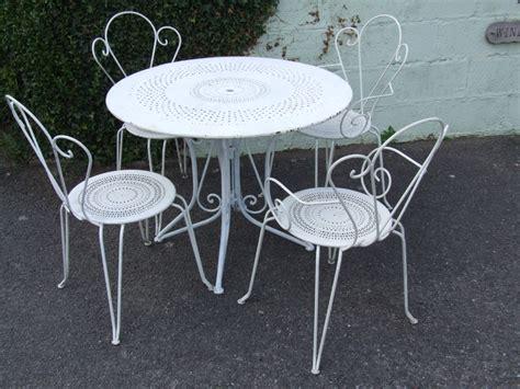 g052 vintage wrought iron patio set la 201 toffe