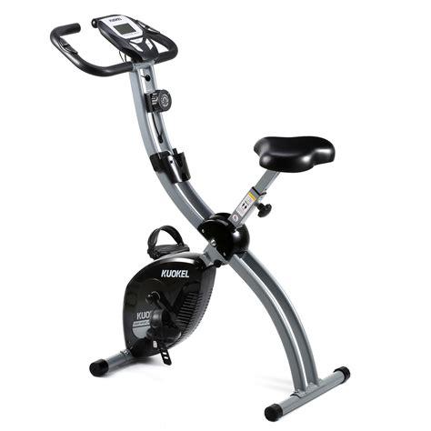 Folding Stationery Exercise Bike, KUOKEL Upright Exercise ...