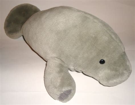 Sea World Manatee Gray Sea Cow Plush Stuffed Animal