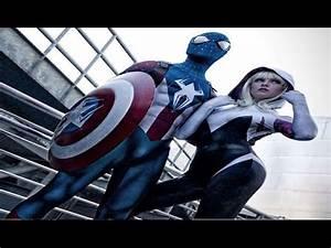 The Amazing Blue Spiderman vs Spidergirl vs Batgirl - Real ...