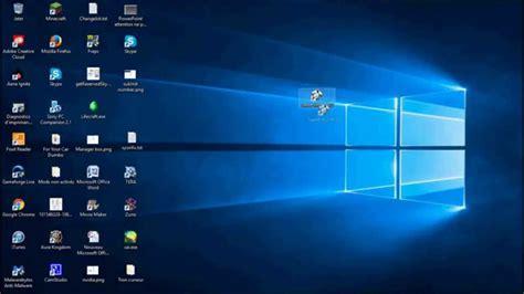 icones bureau tuto comment déplacer les icônes du bureau sur windows