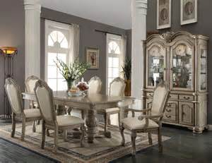 9 dining room set 9 acme chateau de ville antique white finish dining set