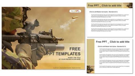 army powerpoint template submachine gun powerpoint templates