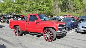 Chevy Silverado On 28 U0026quot  Velocity Wheels And Chevy Tahoe At