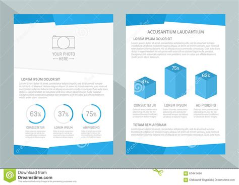 blank leaflet template inner solape vector flyer template design with front page and back page
