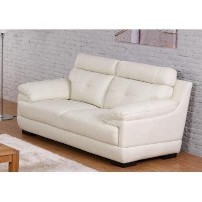 achat tetiere pour canape canapé 2 places en cuir de buffle manuella blanc achat