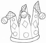Coloring Jester Mardi Gras Hat Template Colouring Eparenting Printable April Jesters Templates Fools Printablecolouringpages Fool sketch template