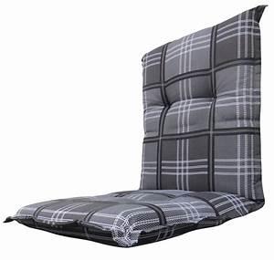 Polster Für Stühle : a053 niederlehner gartenstuhl auflagen 105x50x8cm grau kariert f r st hle mit niedriger lehne ~ Markanthonyermac.com Haus und Dekorationen
