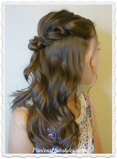 Prom Hairstyle Half Twist Romantic Hairstyles Princess