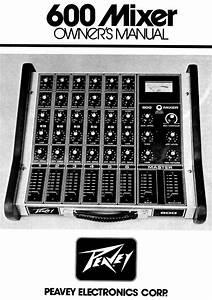 Peavey Music Mixer 600 Mixer User Guide