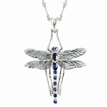 Necklace Dragonfly Diamond Jewelry Cluster Tiered Designs