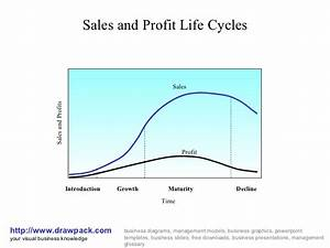Sales And Profit Life Cycles Business Diagram