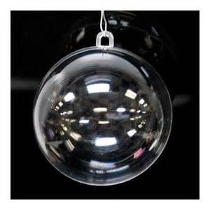 ornaments christmas 110mm clear plastic acrylic fillable ball ornament package of 12
