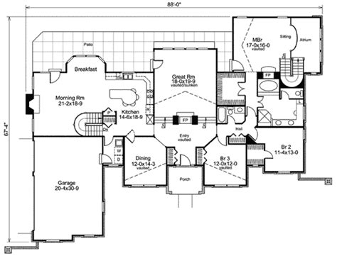 stylish atrium ranch house plan  class ha architectural designs house plans