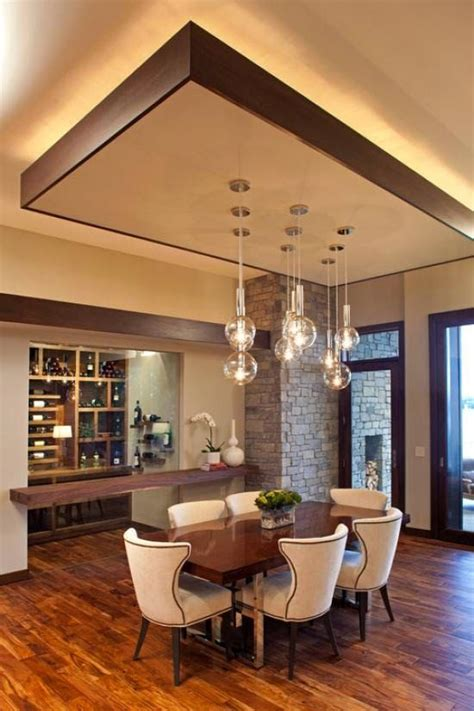 Kitchen With Vaulted Ceilings Ideas - modern dining room with false ceiling designs and suspended ls http www bykoket com