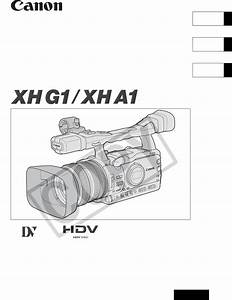 Canon Camcorder Xh A1 User Guide