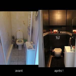 Avant Après : avant apr s wc noirs toilettes design moderne wc suspendus lave main idees deco pinterest ~ Melissatoandfro.com Idées de Décoration