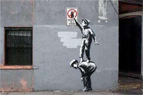 Graffiti by Banksy New York