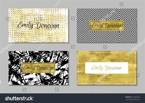 Set Of 4 Gold And White Business Card Template Or Gift How Business Card Reader Works Photoshop Canvas Size For Referral Quotes Rolodex Punch Affinity Photo Template Vegan Restaurant Cards Vistaprint Prices Realtor With