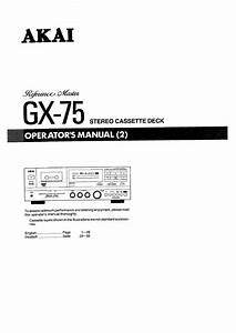Akai Gx 75 Service Manual Download Free Software