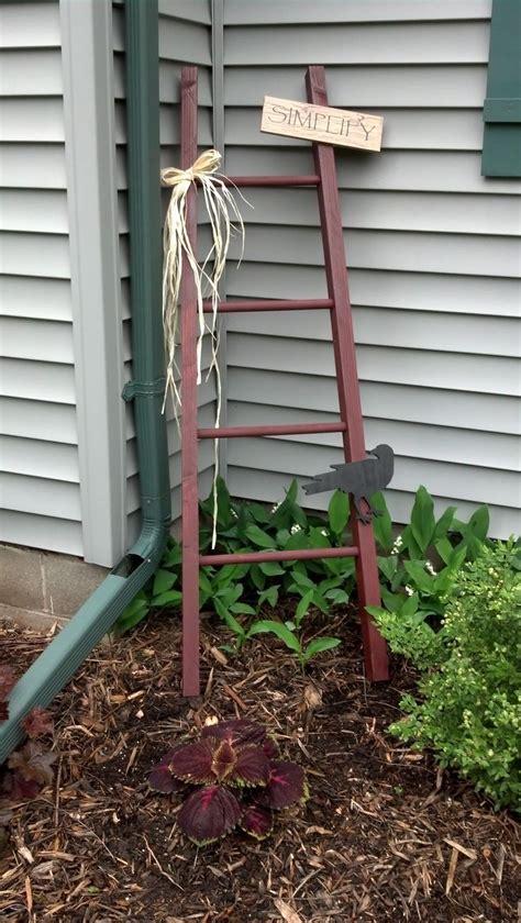 Best Primitive Ladders Images Pinterest