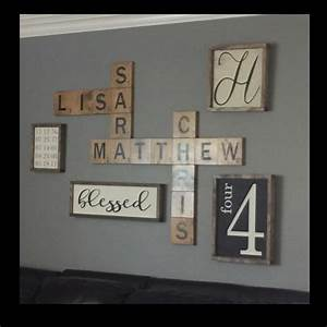 scrabble wall art display family names in a by With family name letter pictures