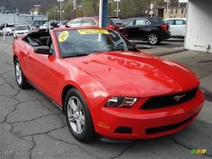 Race Red 2012 Ford Mustang V6 Convertible Exterior Photo #62893205 | GTCarLot.com