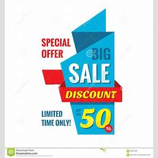 Big Sale Discount Up To 50%, Vertical Origami Banner Vector Illustration Special Offer Abstract