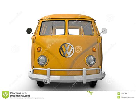 volkswagen bus front vw bus stock illustration image of timer render
