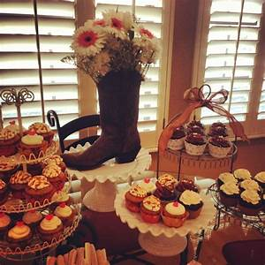 country bridal shower display with our amazing cupcakes With country themed wedding shower ideas