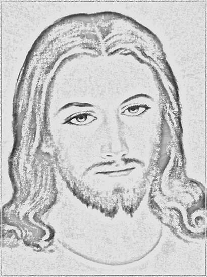 Jesus Face Tattoo Sketch Coloring Pages Template