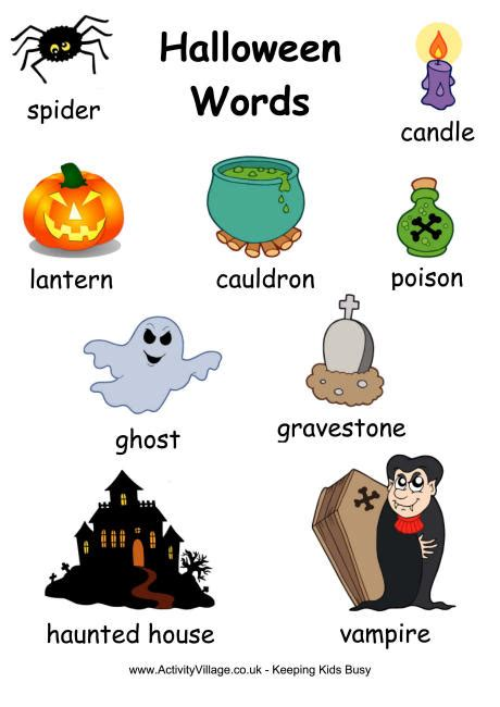 Halloween Word Poster 2