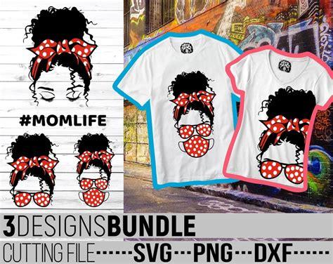Headband silhouette messy bun svg free. 3x Messy Bun Designs Bundle svg, Polka Dot svg, Melanin ...
