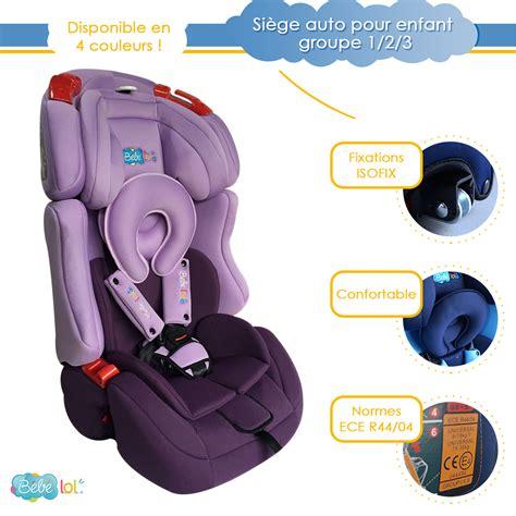 siege auto norme siège auto évolutif isofix bébélol pour enfant groupe 1 2
