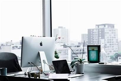 Office Computer Apple Setup Business Monitor Technology