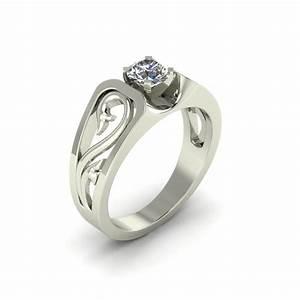artsy scroll custom engagement ring the goldsmiths ltd With artsy wedding rings