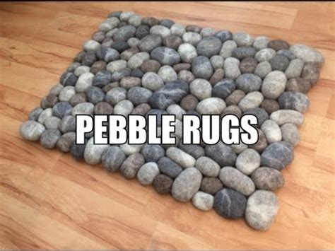felt stone pebble rugs youtube