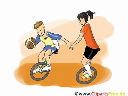 Basketball Cartoon Comic Clipart Bild Fahrrad Bicycle