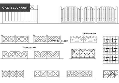 wrought iron gates cad blocks