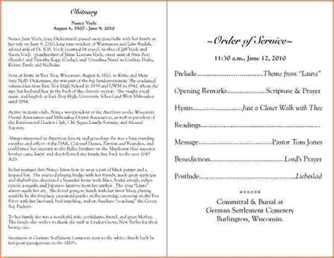 funeral programs samples teknoswitch