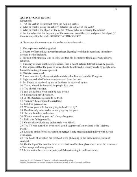 14 best images of grammar worksheets middle school