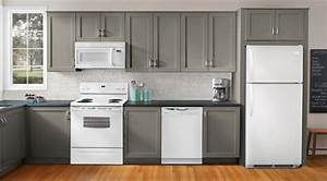 modern kitchen white appliances - Kitchen and Decor