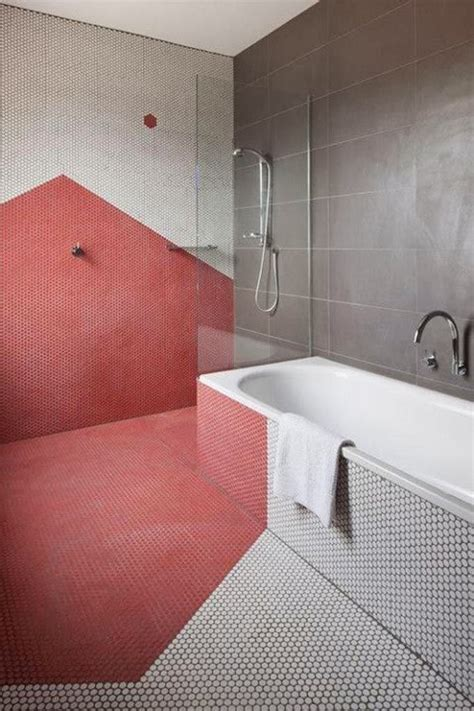 Modern Pink Tile Bathroom by To Da Loos Pink Bathrooms Yes Pretty Ones