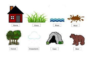 bear hunt story retell prompt visual   speech