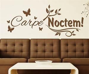Wandtattoo Carpe Noctem : wandtattoo carpe noctem nutze die nacht schmetterling ~ Sanjose-hotels-ca.com Haus und Dekorationen