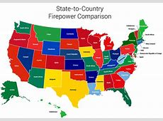 US States Gun Ownership Compared To Countries The