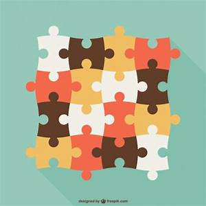 Vintage puzzle pieces Vector | Free Download